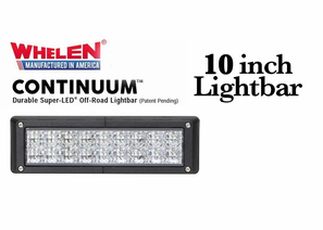 Whelen Continuum Super-LED Off Road Lights - 10 Inch Lightbars