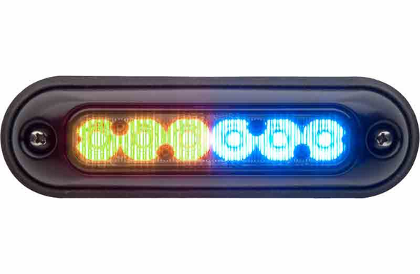 Whelen ION Surface Mount Super-LED Lighthead - AMBER/BLUE - IONSMM