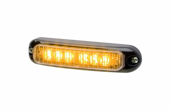 Whelen Micron Surface Mount Super LED Lighthead  - Amber - Black Flange - MCRNSA