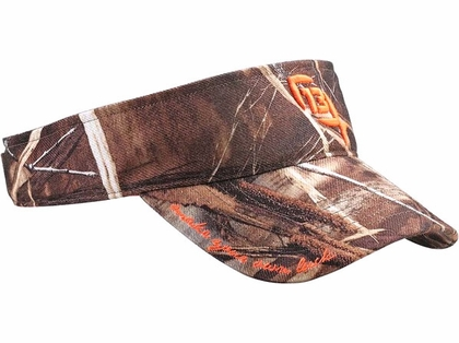 13 fishing 39 39 the half chuck 39 39 realtree camo visor for 13 fishing apparel