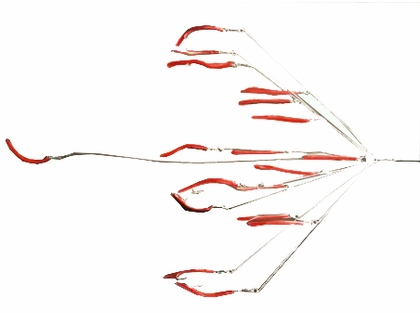 """9er's 390-5 41"""" Tube and Worm Rig Spinner Lure"""