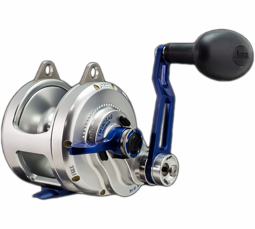Accurate bx2 30nbls boss extreme 2 speed reel tackledirect for Accurate fishing reels