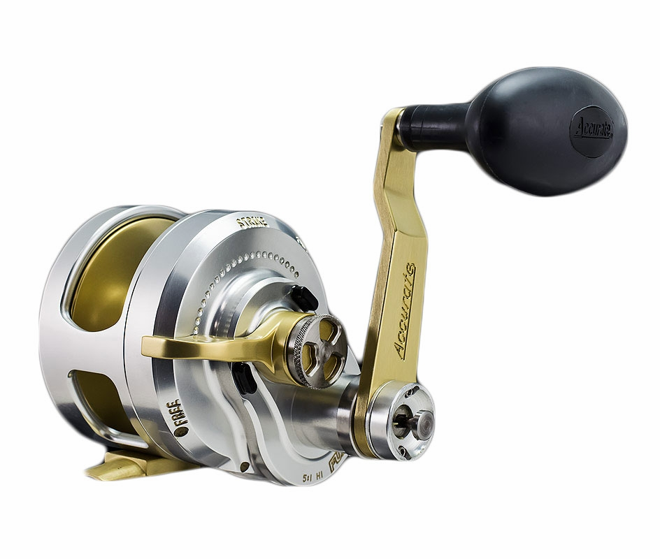 Accurate fx2 600nnlgs boss fury 2 speed l h reel for Accurate fishing reels