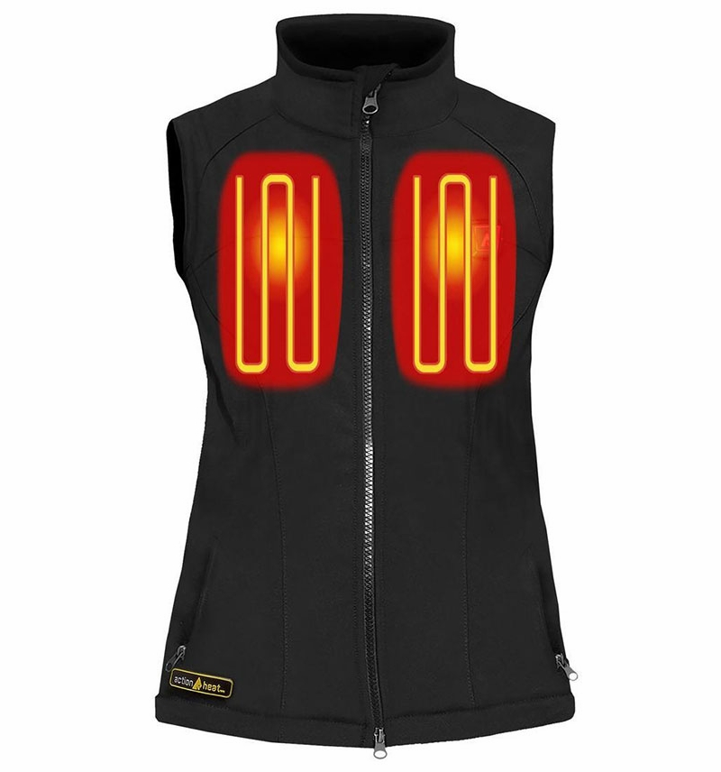 Battery Heated Clothing >> ActionHeat 5V Battery Heated Vest - Women's S