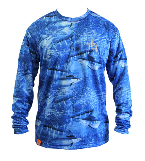 Aftco guy harvey mh62401 legend long sleeve performance for Guy harvey fishing shirts