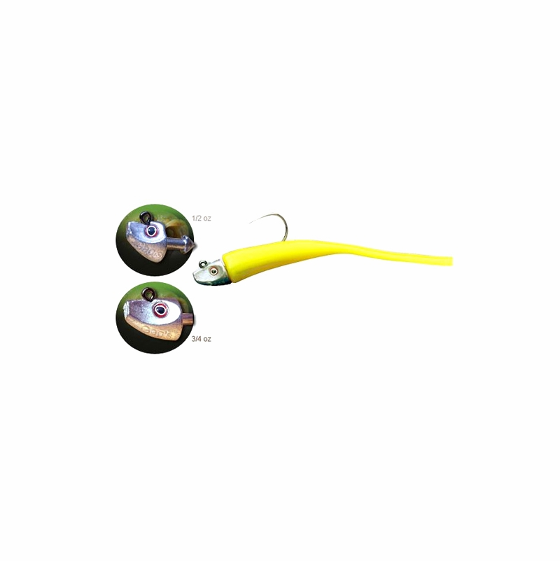 Al gags eel38 whip it eel lure 6in tackledirect for Al gags whip it fish