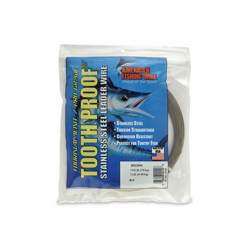 American fishing wire s12c 01 toothproof ss leader for American fishing wire