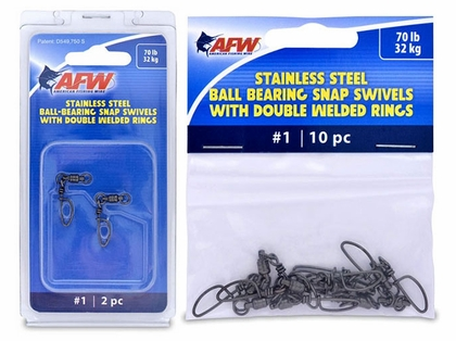 American Fishing Wire Stainless Steel Ball Bearing Snap Swivels