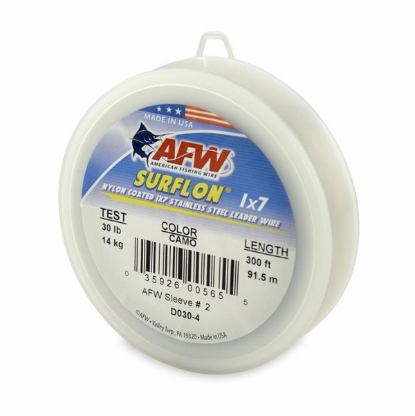 American fishing wire surflon 1x7 nylon coated leader for Fishing wire leader