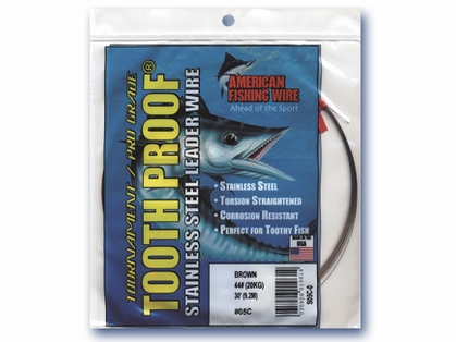 American Fishing Wire Tooth Proof Single Strand Leader Wire