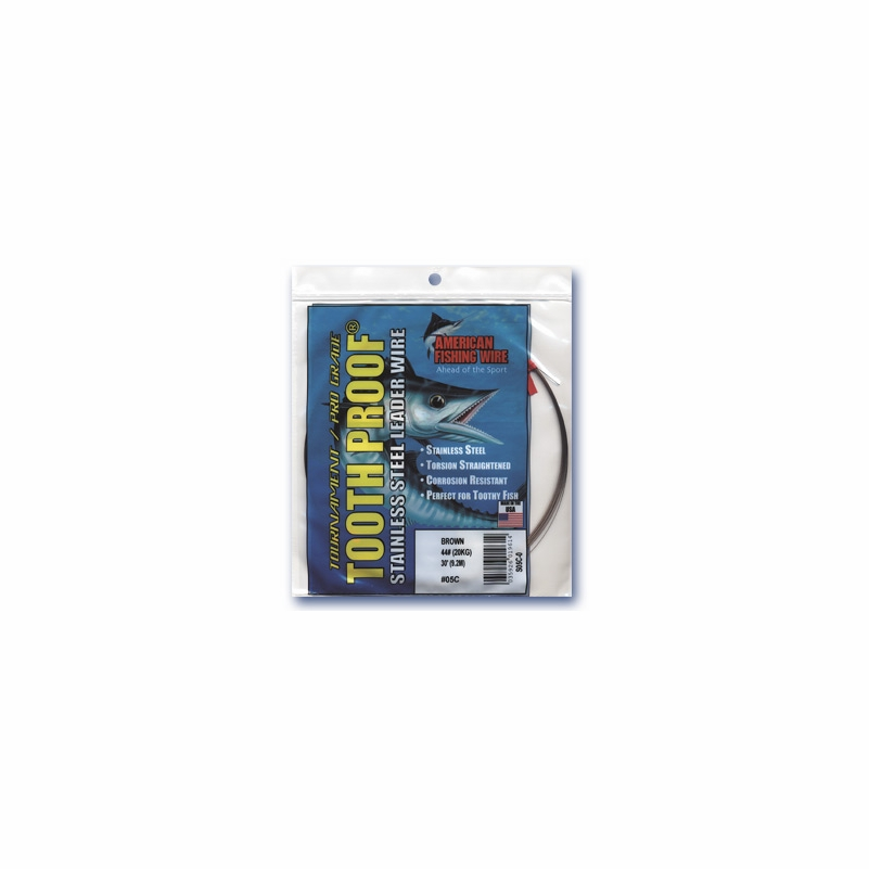 American fishing wire tooth proof single strand leader for American fishing wire