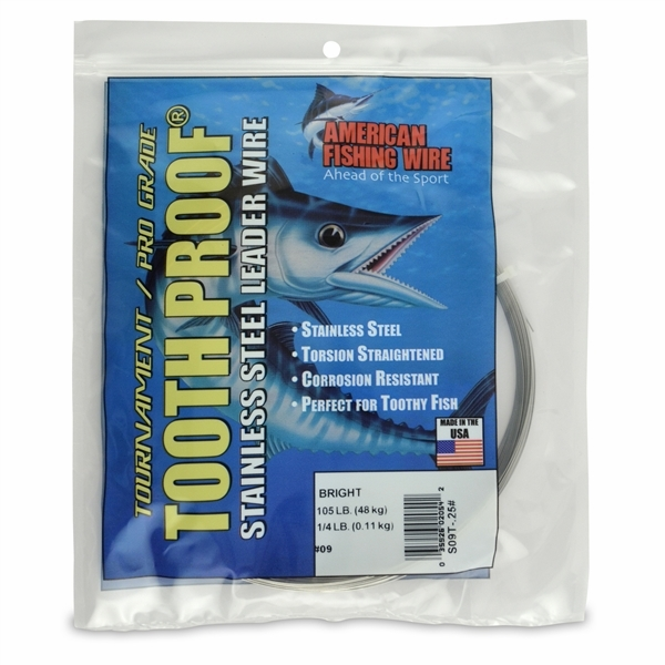 American fishing wire tooth proof leader s09t 25 9 for Fishing wire walmart