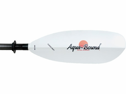 Aqua-Bound Sting Ray Kayak Paddle White Abx Blade Carbon TLC Shaft