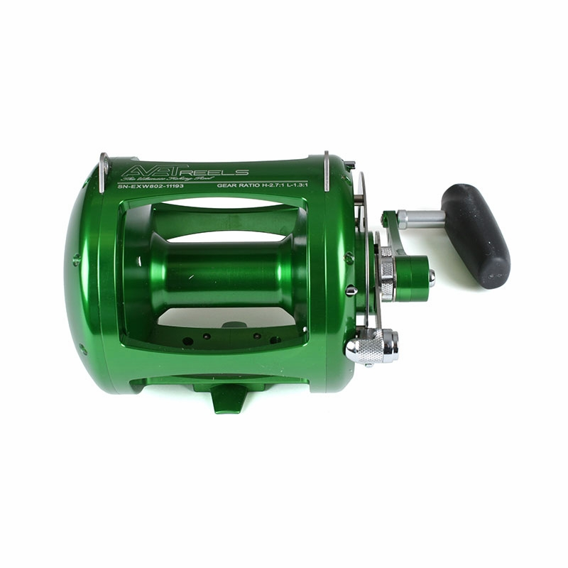 Avet exw 80 2 two speed lever drag big game reel green for Reel fishing game