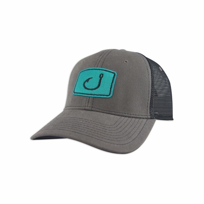 avid sportswear iconic fishing trucker hat tackledirect