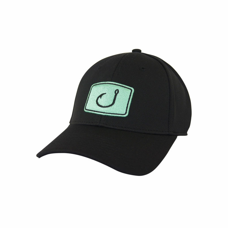 avid sportswear iconic fitted fishing hats tackledirect