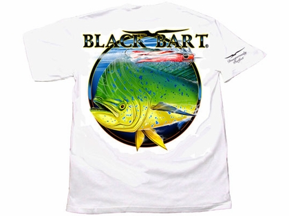 Black Bart Bull Dolphin Short Sleeve T-Shirts White
