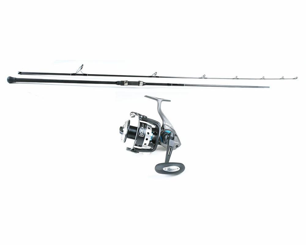 Blacktiph century stealth quantum boca surf combo for Surf fishing combo