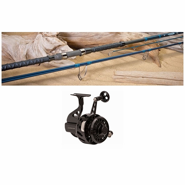 Blacktiph pier fishing combo premium black reel for Best pier fishing rod