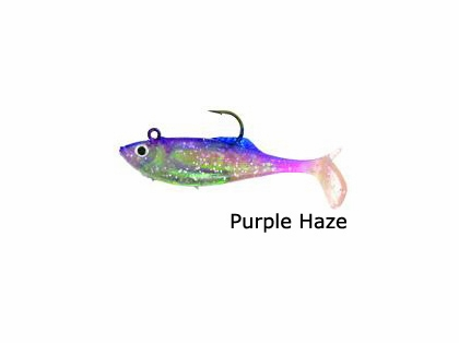 Calcutta FF03PRPH 3'' Flashfoil Shads Purple Haze