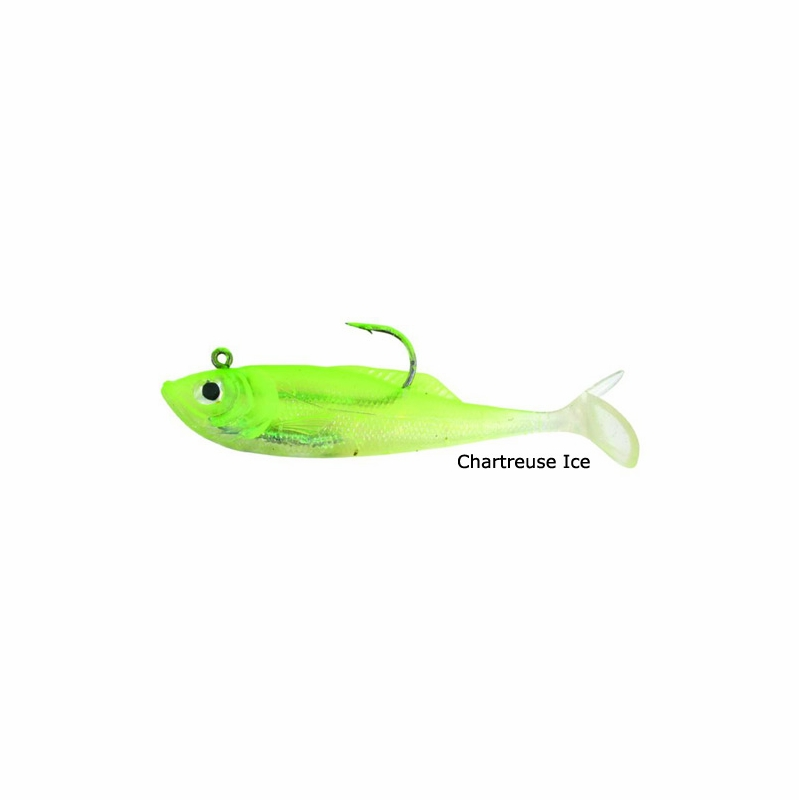 Calcutta Ff05csi 5 39 39 Flashfoil Shads Chartreuse Ice