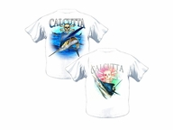 508808 NEW Authentic Calcutta T-Shirt with Inshore Slam Carbon Blue XLarge