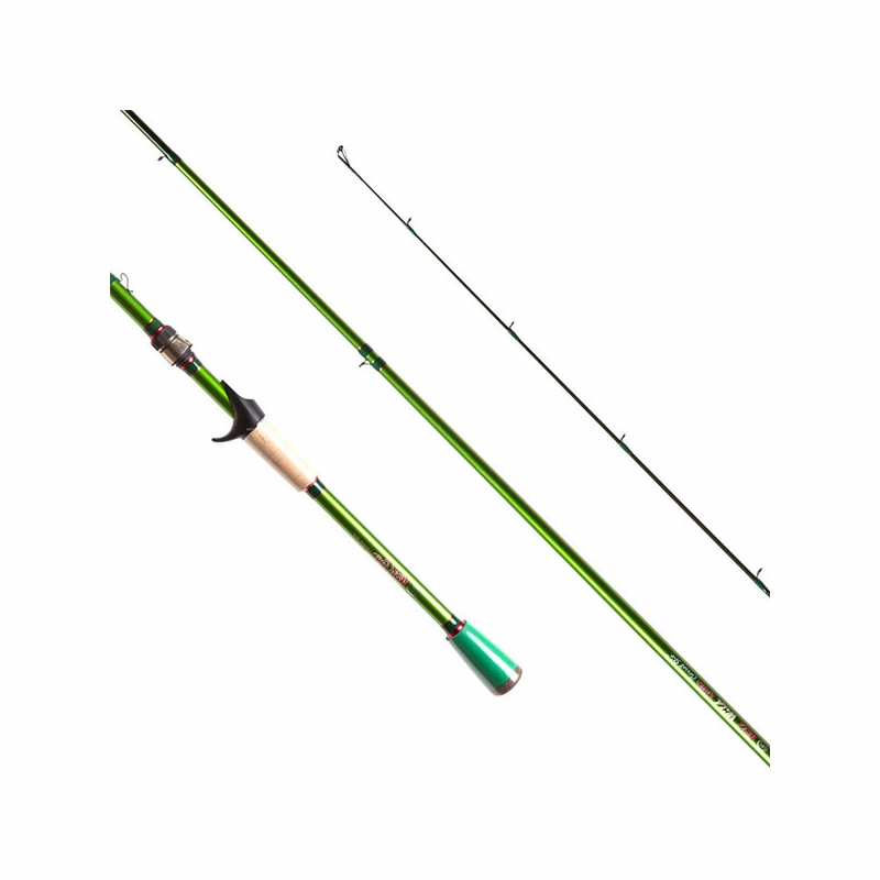 Carrot stix c2wg701ml f c wild wild green casting rod 7 for Green fishing rod