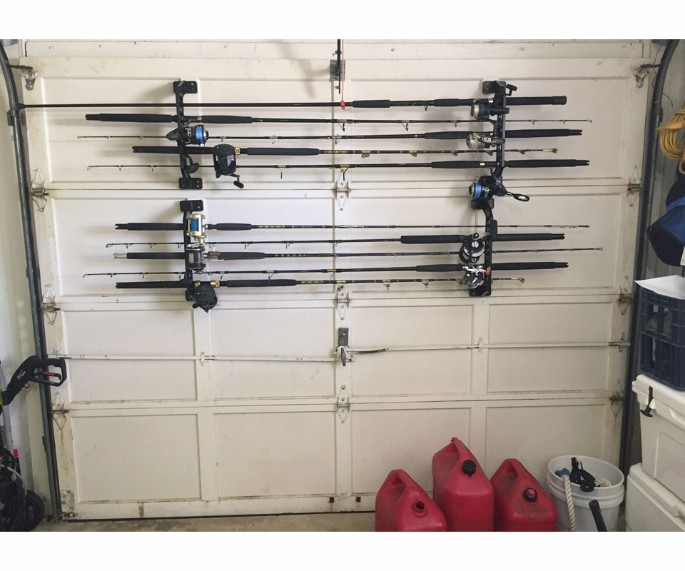 Cobra storage garage door fishing rod racks tackledirect for Fishing rod rack