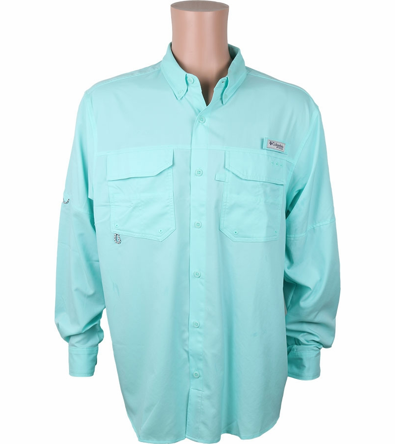 cfc23992756 Columbia PFG Blood and Guts III Men's Long Sleeve Woven Shirt