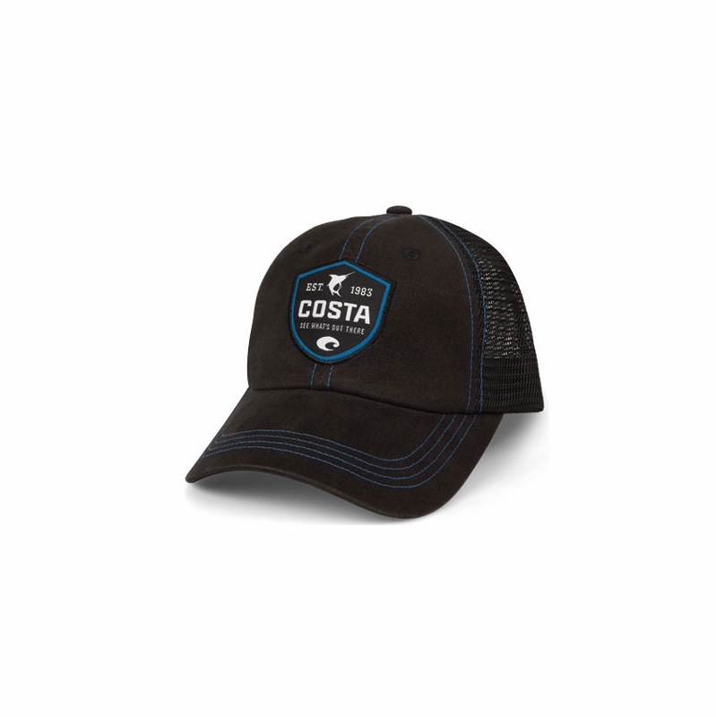 6e3406edd00 Costa Del Mar Shield Trucker Hat