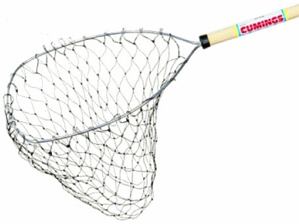 Cumings CCN-48 Promotional Crab Net 12in x 14in Bow 48in Handle