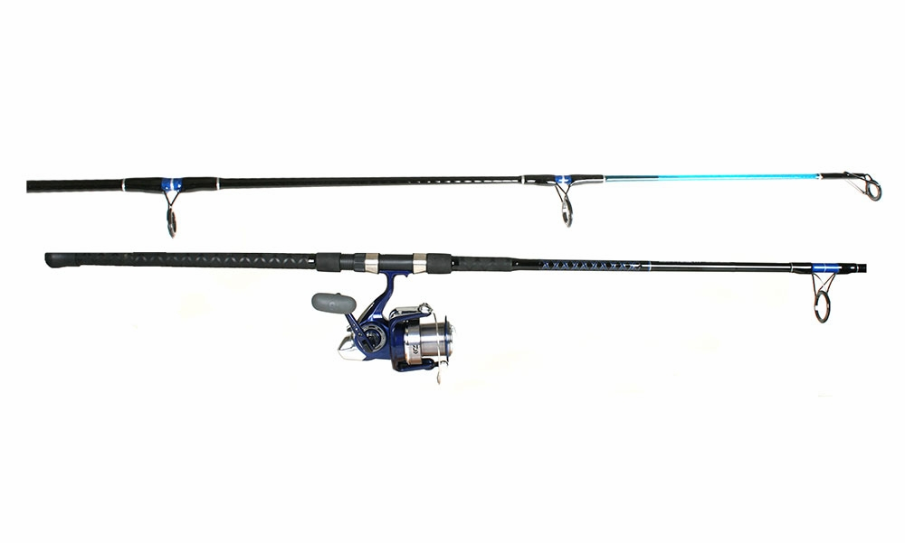 Daiwa emcast tsunami sassxt902mh sapphire surf combo for Best surf fishing rod and reel combo