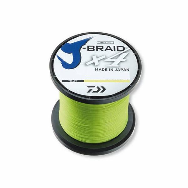 Daiwa j braid x4 fluorescent yellow line 3000yds for Fluorescent fishing line