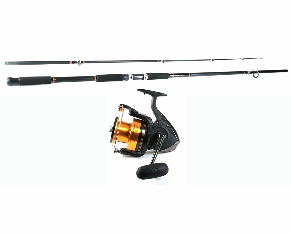 Daiwa opp6000a opus plus a reel daiwa bfsf1202mhrs for Surf fishing rods and reel combos