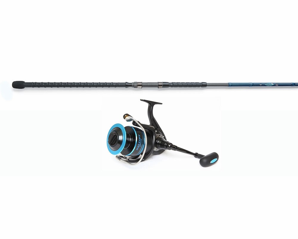 Daiwa saltist spin reel st croix 12ft legend surf rod for Surf fishing rods and reel combos