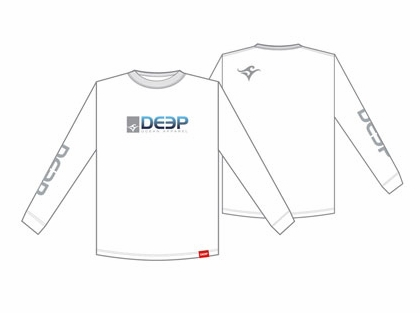 Deep Ocean Long Sleeve T-Shirt White