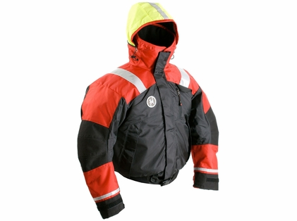 First Watch AB-1100-RB Flotation Bomber Jacket Red/Black
