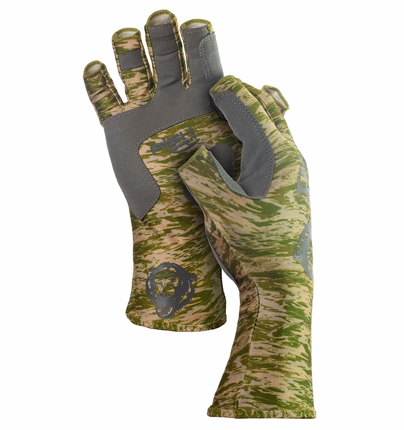 fish monkey half finger guide gloves tackledirect