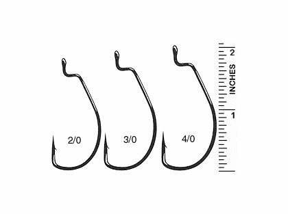 Gamakatsu SuperLine Worm Hooks, Offset Shank, Extra Wide Gap