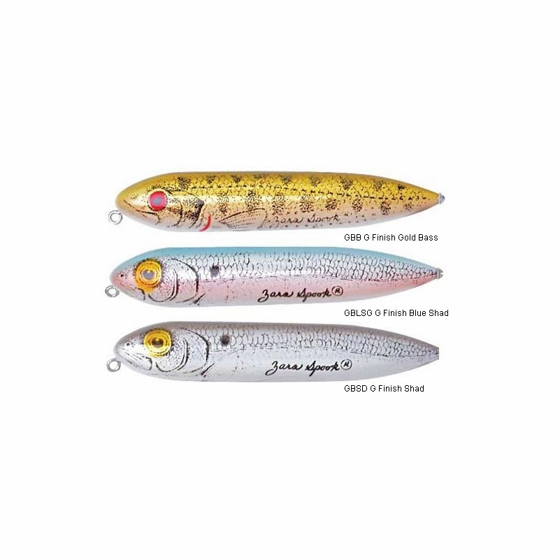 Heddon zara spook lures for Spook fishing lure