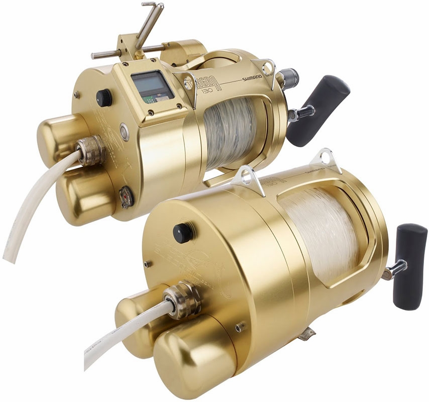 Hooker shimano tiagra 130a electric reels tackledirect for Electric fishing rod