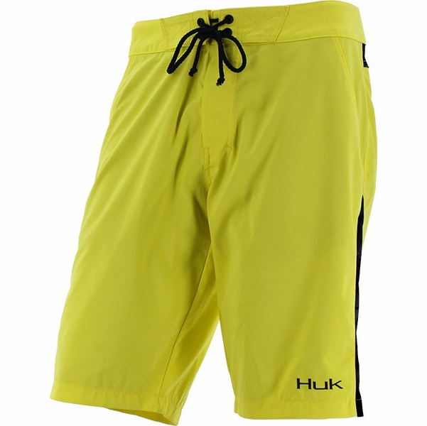 Huk kryptek board shorts blaze yellow typhon tackledirect for Huk fishing shorts