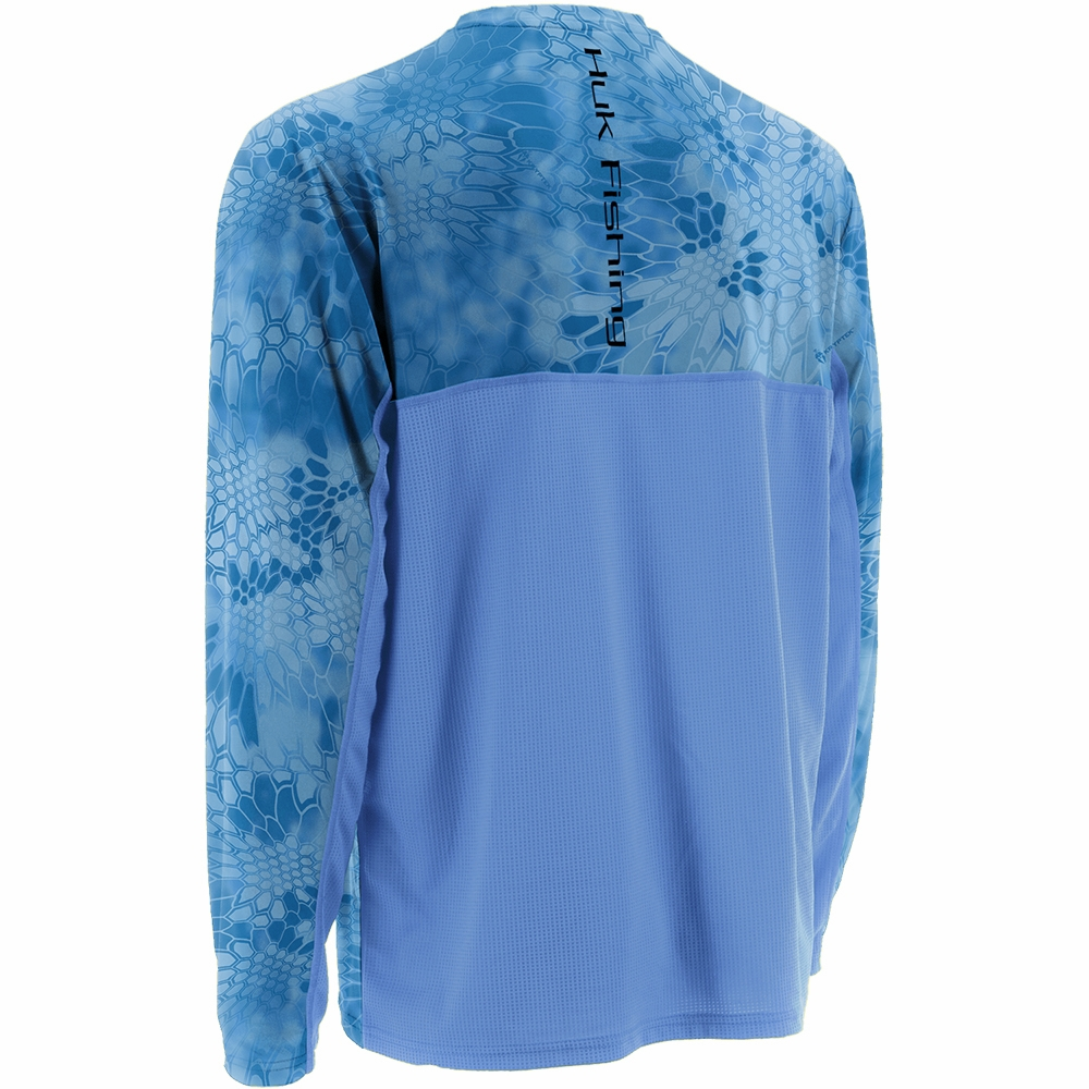 Huk kryptek solid ls icon shirt carolina blue tackledirect for Huk fishing gear