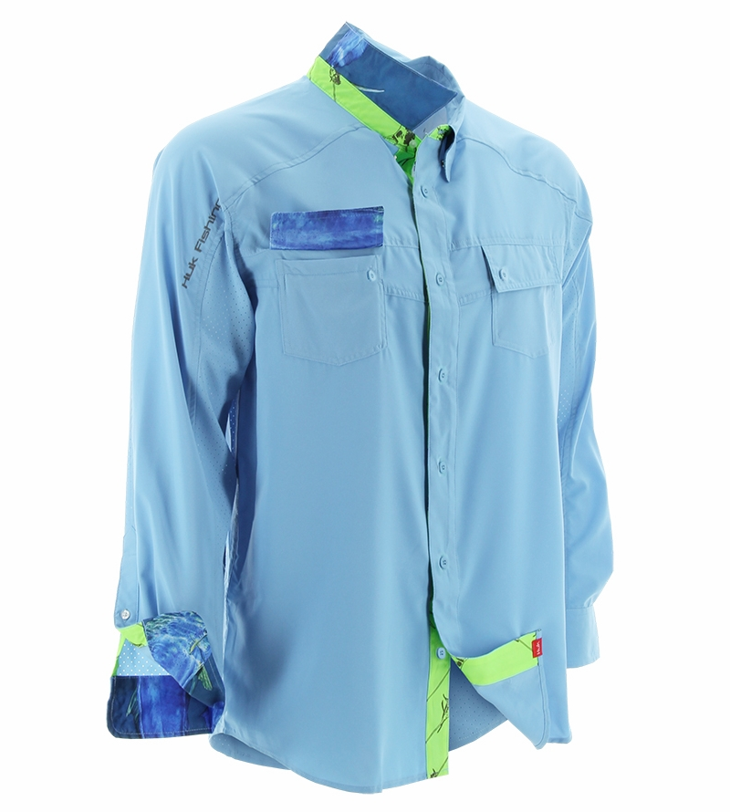 Huk next level long sleeve woven shirts tackledirect for Huk fishing gear