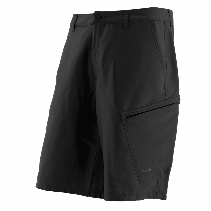 Huk performance fishing huk hybrid lite short black for Huk fishing shorts