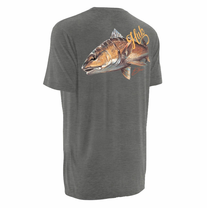Huk performance fishing huk k scott redfish t shirts for Huk fishing gear