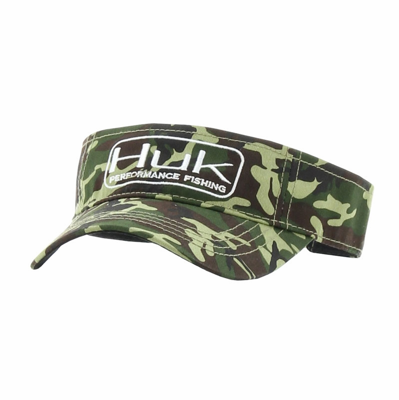 Huk performance fishing huk logo camo visor tackledirect for Huk fishing gear