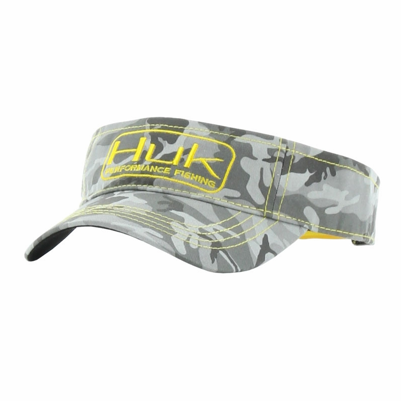 huk performance fishing huk logo camo visor tackledirect