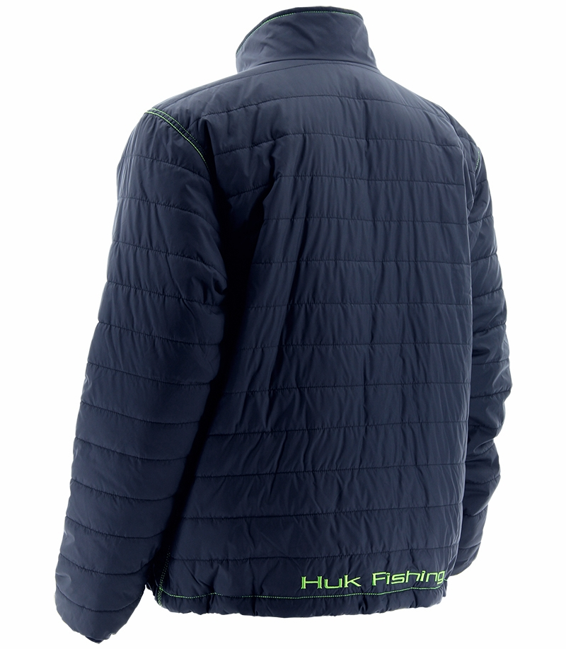 Huk performance fishing huk puffer jacket navy for Huk fishing gear