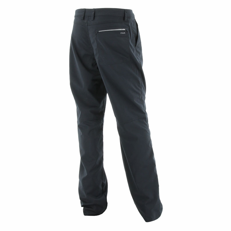 Huk performance fishing hybrid lite pant black for Huk fishing shorts